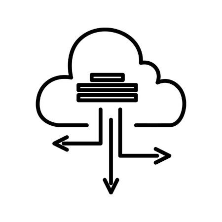 based: cloud based architecture illustration design