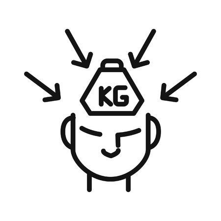 criticism and pressure illustration design