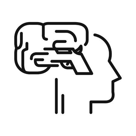 trigger: mind trigger illustration design
