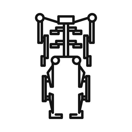 exoskeleton: human exoskeleton illustration design Illustration
