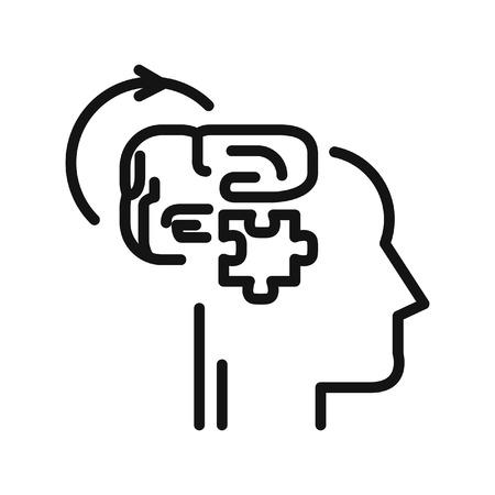 logical: logical thinking illustration design
