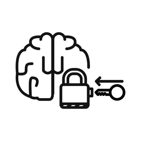 unlocking mind illustration design Illustration