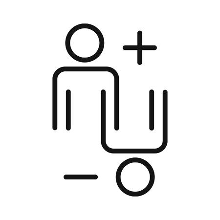 controversia y la ilustración argumento del diseño Ilustración de vector