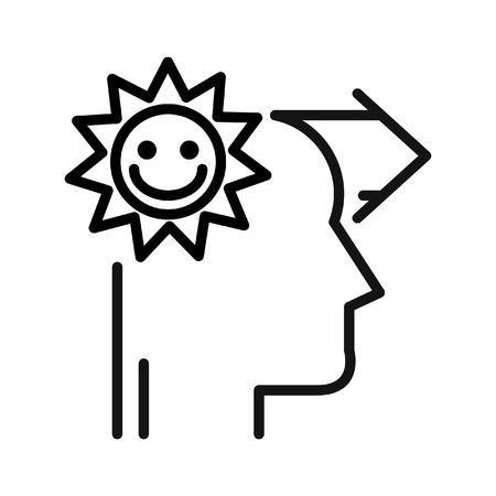 optimismo: optimismo y la felicidad ilustración de diseño