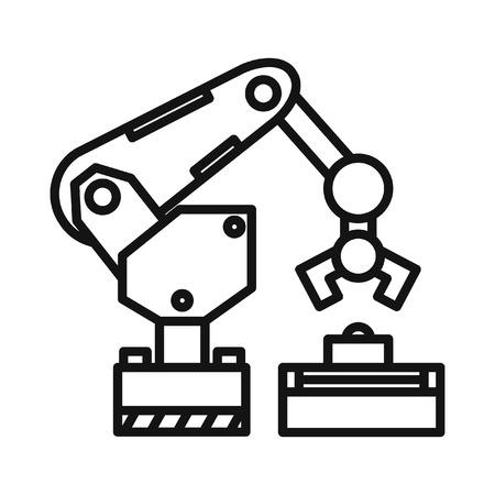 robotic: robotic arm illustration design