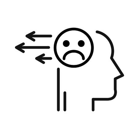 negative: release negative thoughts illustration design Illustration