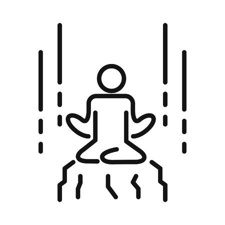 elasticity: meditation training illustration design