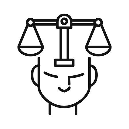 整合性と原則のイラスト デザイン