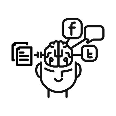 procrastination: social media procrastination illustration design