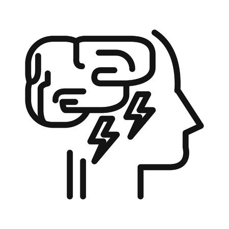 exhaustion: mental exhaustion illustration design Illustration