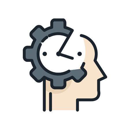 personnalité ponctuelle icône de couleur Vecteurs