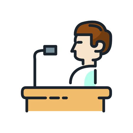 orator: orator speech icon color