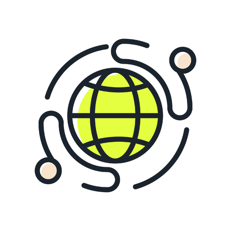 business network icon color