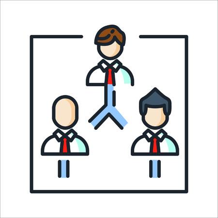 company structure icon color