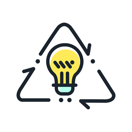 recycling: idea recycling icon color