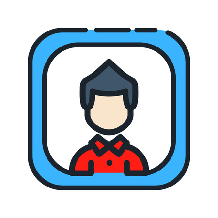 user profile icon color Illustration