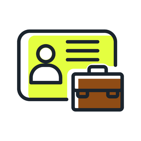 yelow: business id card icon color