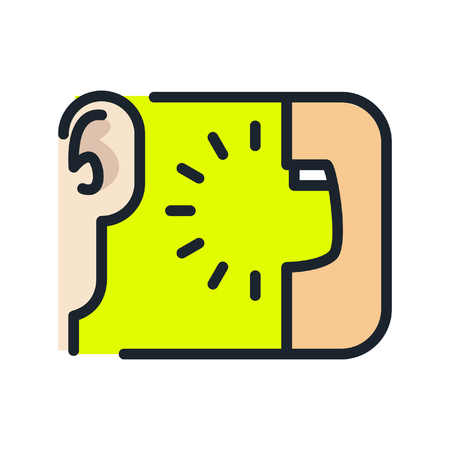 viral marketing icon color Illustration
