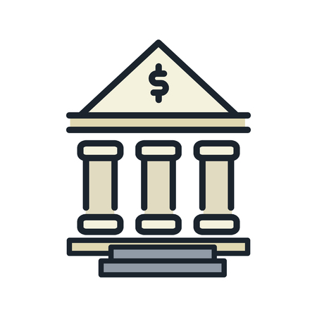 institution: financial institution icon color