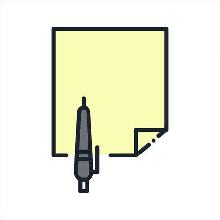 writable: writable blank document icon Illustration