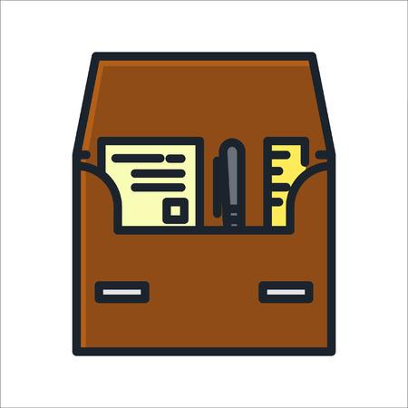 business case: business case icon color Illustration