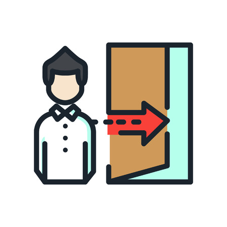 Employee Dismissal Icon Color