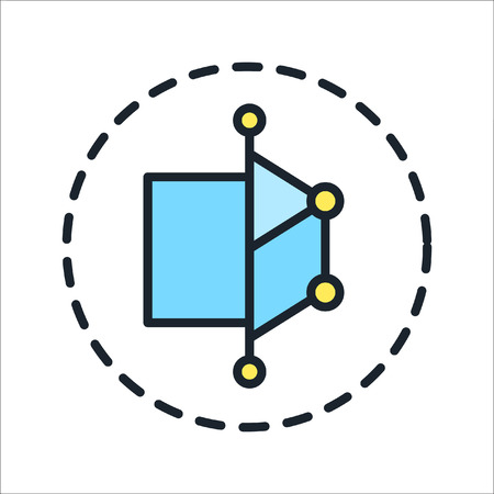 icon 3d: 3d modelling icon color