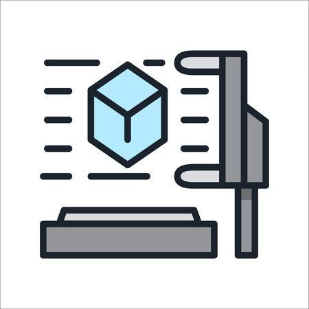 icon 3d: 3d scanner icon color