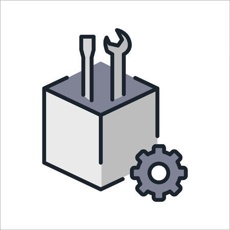 resource: technical resource icon color Illustration
