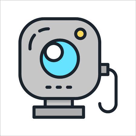 web camera icon color Ilustração