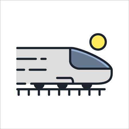 railroad trip icon illustration design