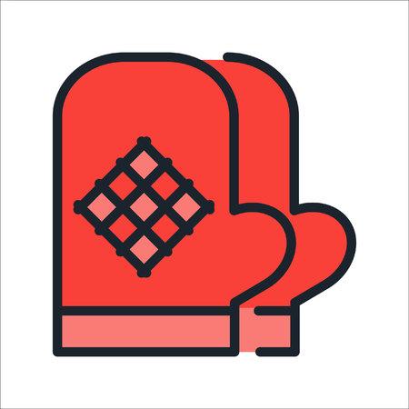 kitchen gloves icon illustration design Ilustração