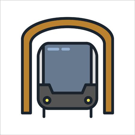 subway icon color illustration design Ilustração