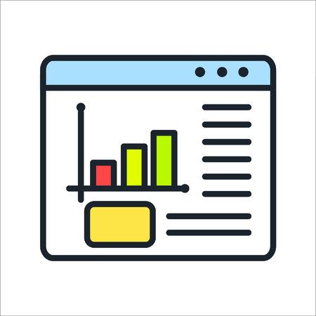 web analytics icon color