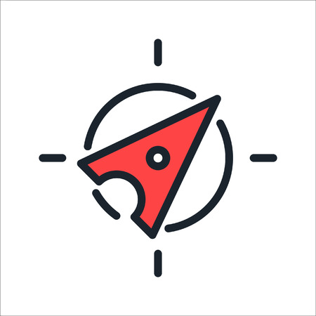 compass icon color illustration design