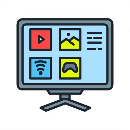 smart tv icon color