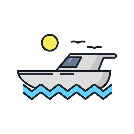 boat trip icon color