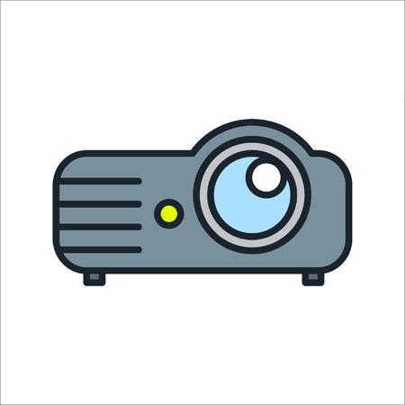 digital projector icon color Ilustração