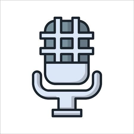studio microphone icon color