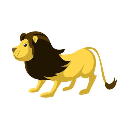 cute lion color illustration design Illustration