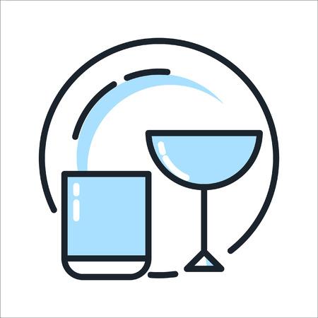 Color del icono de desgaste de vidrio Ilustración de vector