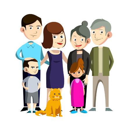 family: family reunion illustration design Illustration