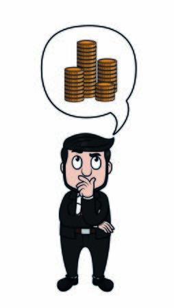 businessman plan to get coins