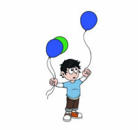 child hold balloons vector design Ilustração