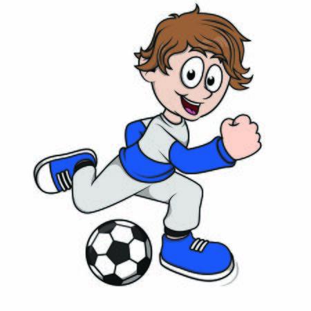 child kick a ball