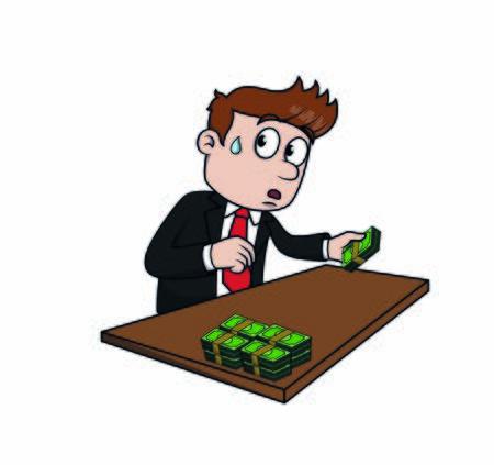 bussiness man stealing money
