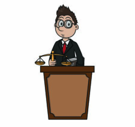 the judge on the stand vector