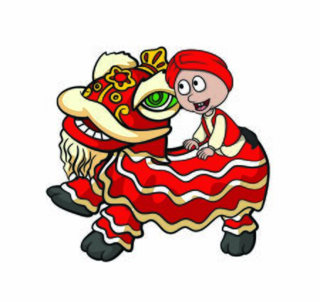 children ride barong sai