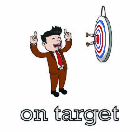 businessman on target in dart