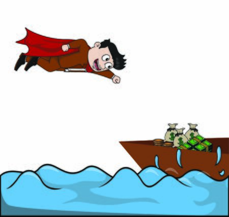 super business find money at sea